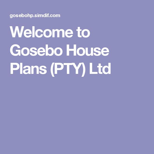 Welcome to Gosebo House Plans (PTY) Ltd