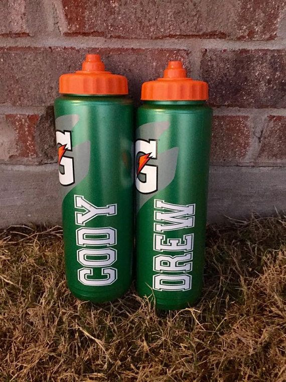 Personalized Gatorade water bottles by PersonallyPoshDesign