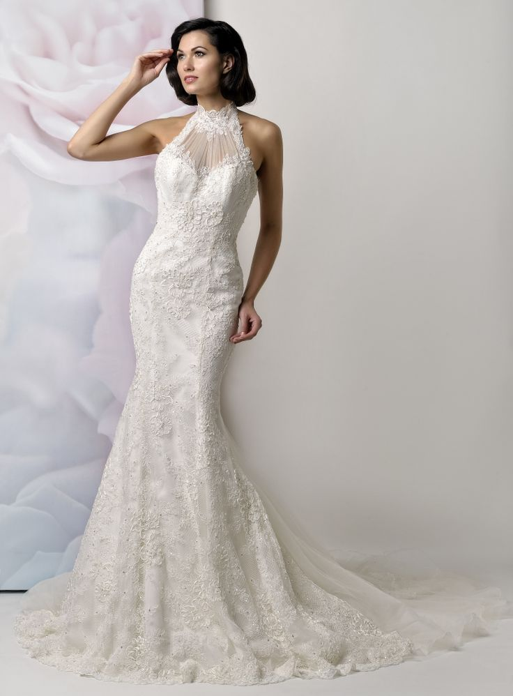 Pin by perfect wedding dress finder on halter style for Perfect wedding dress finder