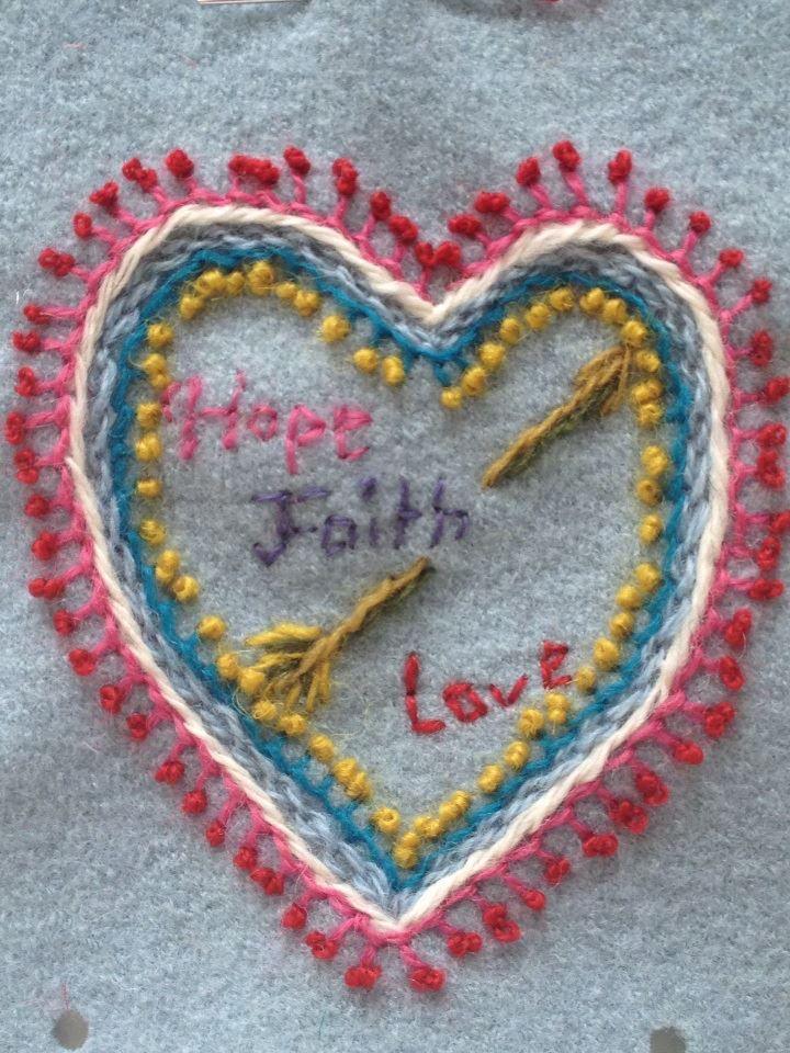 Ullbroderi tro hopp och kärlek
