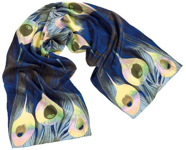 Fox and Chave: Tiffany Peacock silk scarf, 35£ ($60 US)