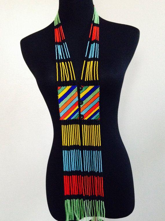 Zulu / Xhosa beaded scarf necklace