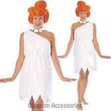 CL531 Womens Wilma The Flintstones FLINTSTONE Fancy Dress Party Costume Outfit