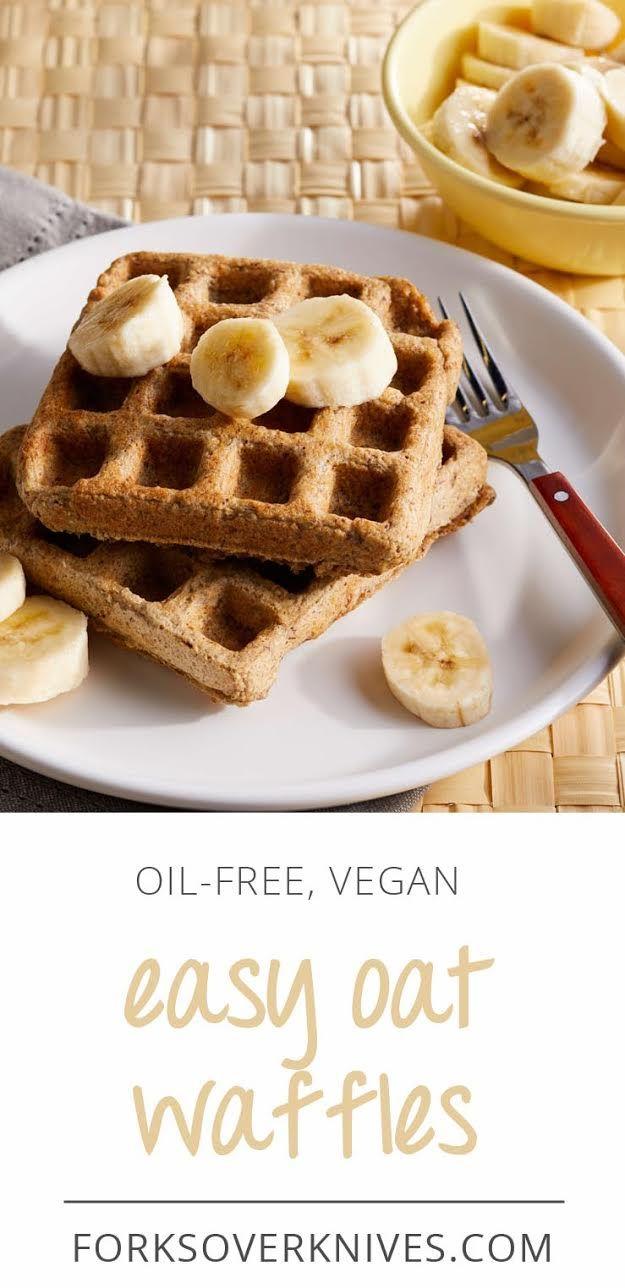 Oat Waffles Quick Easy Delicious Title Recipe Plant Based Pancakes Waffle Recipes Vegan Waffles