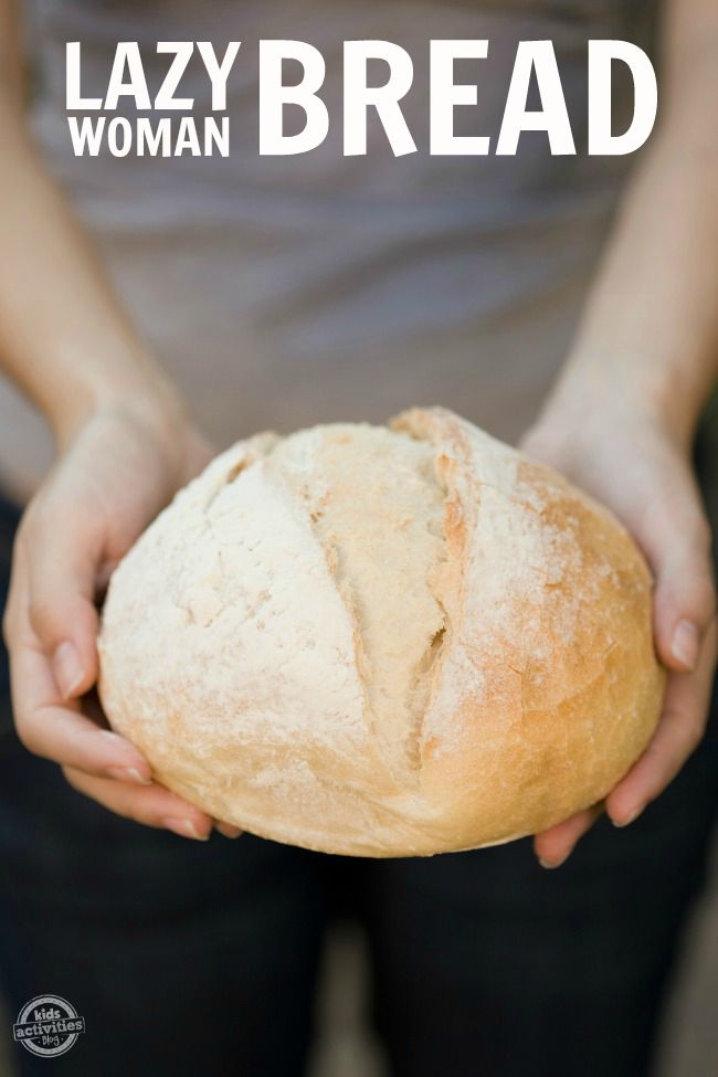 {Easy Bread Recipe} Lazy Woman Bread