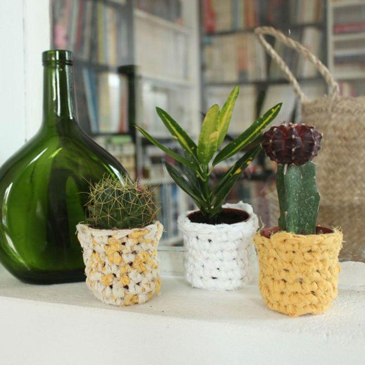 diy d co 30 id es pour customiser un cache pot id es. Black Bedroom Furniture Sets. Home Design Ideas