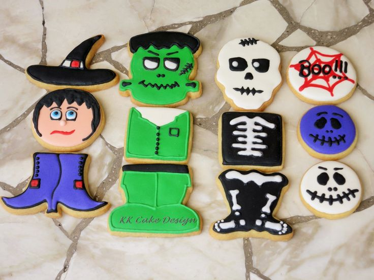 Halloween cookie set.  Sugar cookies decorated with royal icing