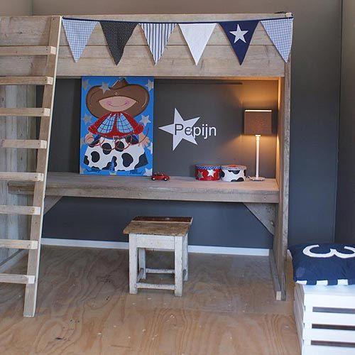 25 beste idee n over jongens hoogslapers op pinterest kinderen zolder slaapkamers kind - Blauwe en grijze jongens kamer ...