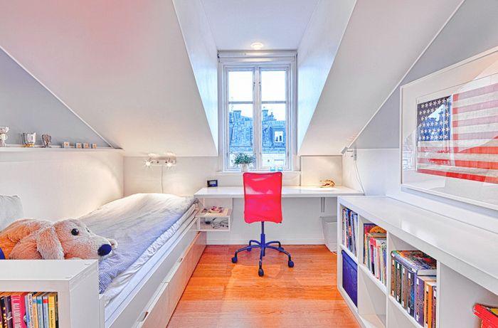 Большая квартира на последнем этаже | Пуфик - блог о дизайне интерьера