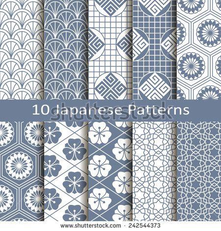 Japanese Pattern Flower Fotos, imagens e fotografias Stock | Shutterstock