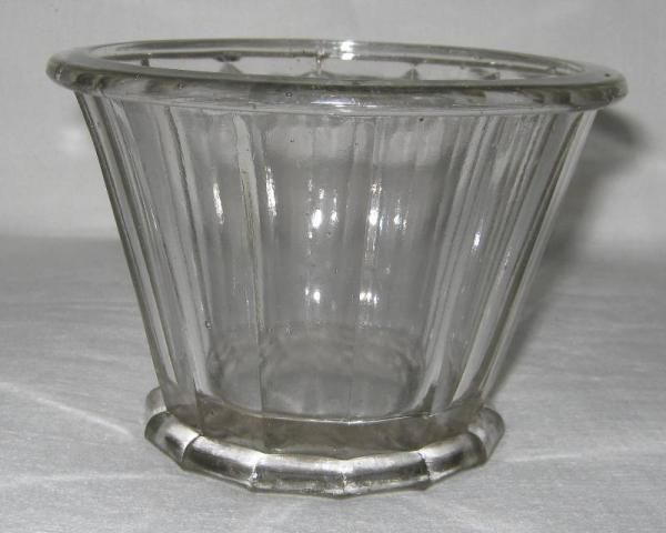 Pot à confiture ancien en verre de forme conique marqué PORTIEUX 375