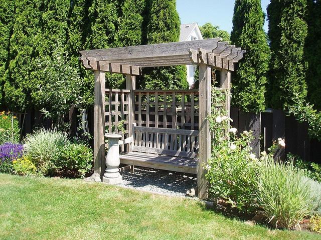 Arbor Bench Garden Pinterest