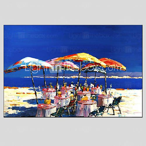 oil paintings modern sea view canvas material with stretched frame ready to hang size6090cm canvas materialhotel decoroil paintings - Cyan Hotel Decorating