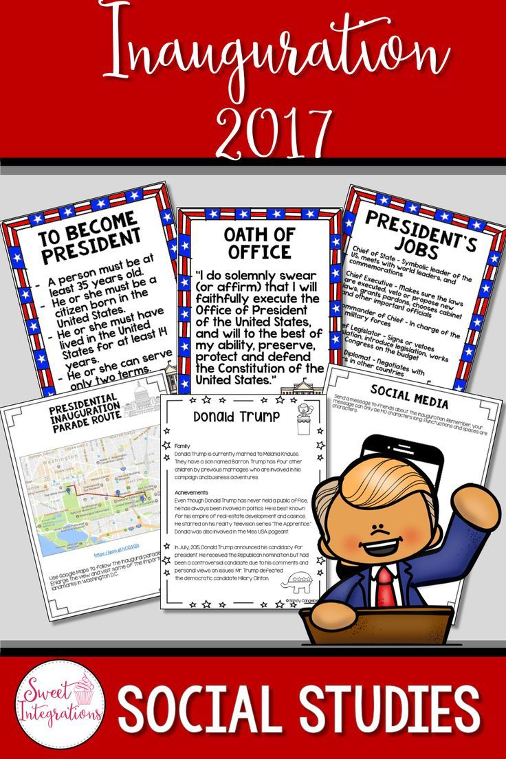 PRESIDENTIAL INAUGURATION DAY ACTIVITIES - Reading, Writing, and Technology; Before our president-elect can take over his duties as president of the United States, he must take the oath of office. This unit provides posters about the duties of the president, vocabulary, reading passages, and technology opportunities. There's lots of opportunities for student choice and differentiation in this social studies unit. For a hands-on activity, I've included a fun Branches of Government Flipboo