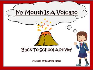 My Mouth Is a Volcano....Lesson and FREEBIE! This is great for back to school time!