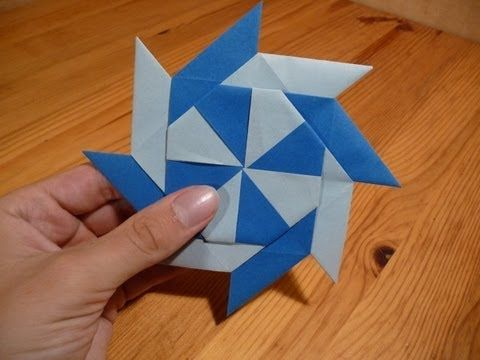 How To Make a Paper Double Ninja Star - Origami | Paper crafts ... | 360x480