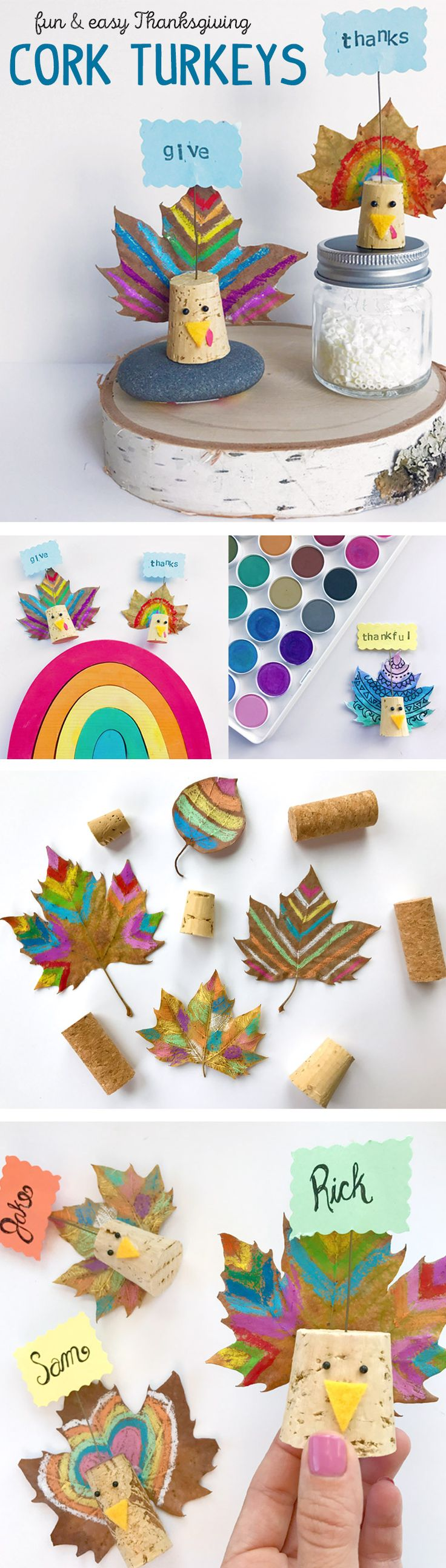 Cork Turkeys: A Fun and Easy Thanksgiving Craft for Table Decor - International Arrivals