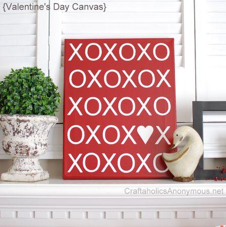 XOXO Canvas Tutorial + Free printable