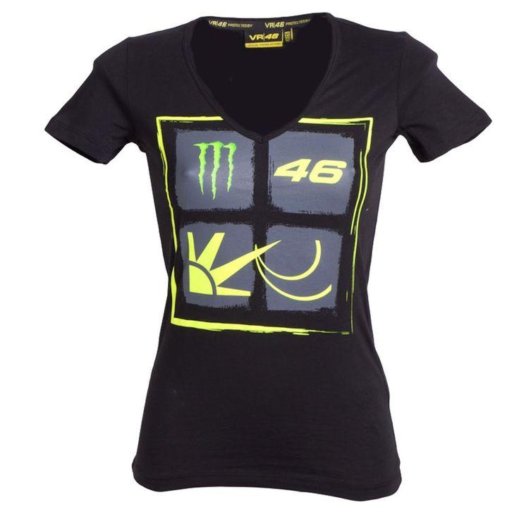 2014 Valentino Rossi officiel Monster Energy VR46 Les femmes T-shirt: Amazon.fr: Sports et Loisirs