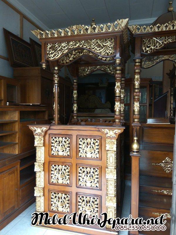 Mimbar Masjid Minimalis Gebyok Ukiran Jepara