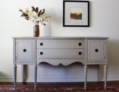 Vintage Painted Sideboard, NodtothePast, gray, Annie Sloan, modern