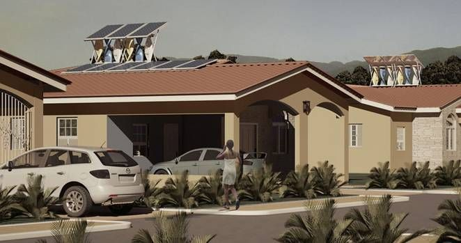 The SolarMill, a 1.2 kW combination wind and solar energy system, will be sold in the U.S. for about $3000.