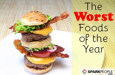 The 15 Worst Foods of 2013: Did you fall for any of these restaurant fumbles?   via @SparkPeople #diet #nutrition