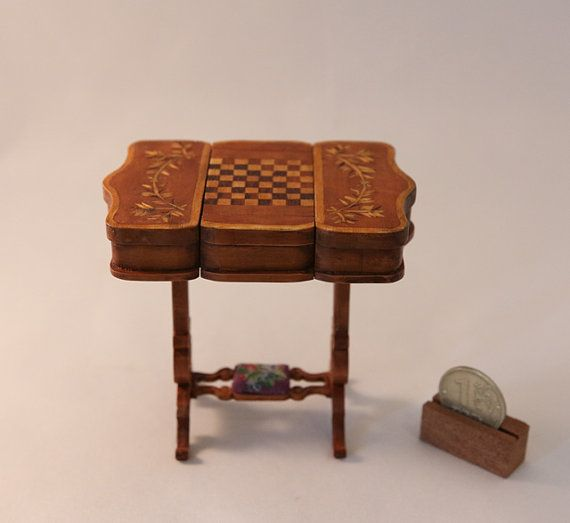 Victorian Game table. by Inchscaled on Etsy, $1000.00 pinterest.com/vikam/my-miniatures/