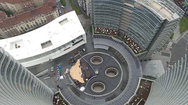 #Colpod'occhio su Piazza #GaeAulenti #raiexpo #expo2015 #expo365