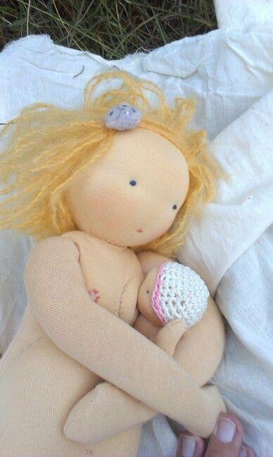 Breastfeeding doll (baby snaps on!) :)