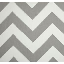 Jumbo Chevron Storm Grey Home Decor Cotton Fabric PO919