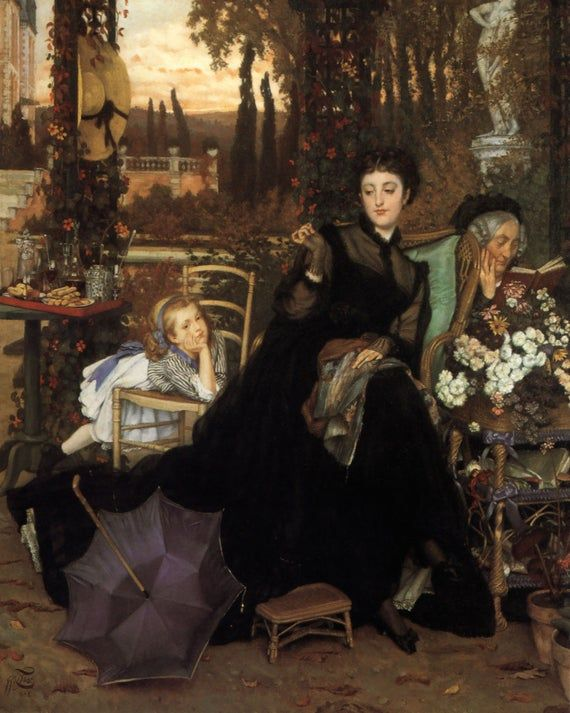 James Tissot Old Masters Fine Art Print A Widow Classical Figure Painting French Artist Victorian Art Art Painting Canvas Art Prints