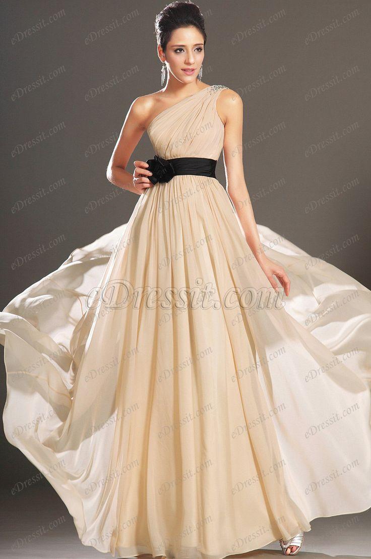 eDressit Elegante Solo Hombro Vestido de Noche Largo (00133014)