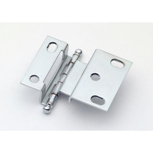 Polished Chrome Offset Hinge with Ball Finial