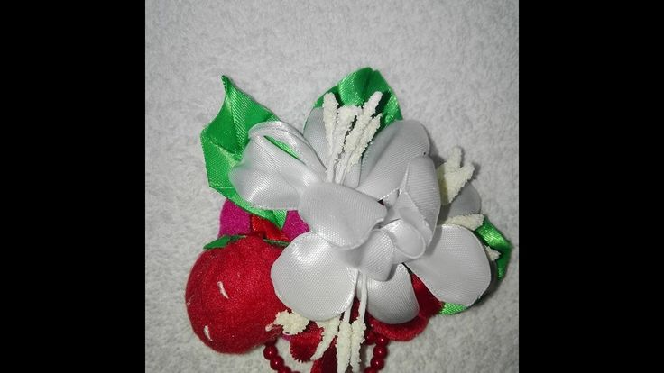 TUTORIAL-SAKURA BROOCH-Facem MARTISOR  brosa capsuni si flori de cires