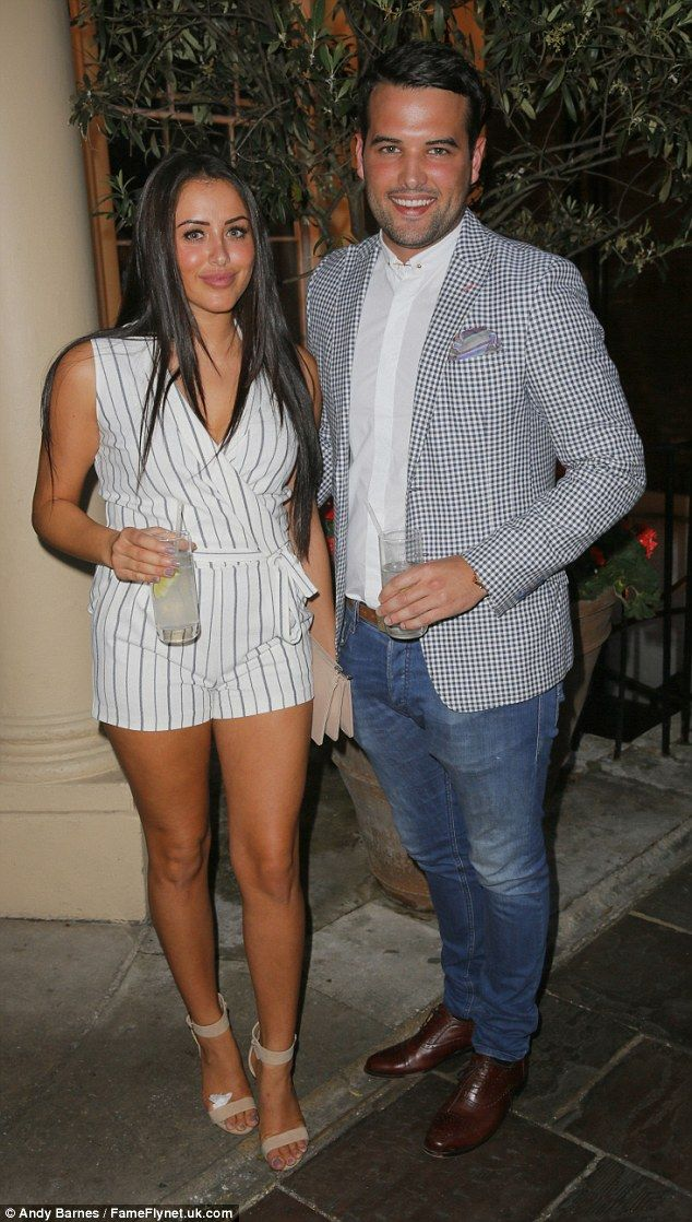 Loved-up: Geordie Shore favourite Marnie Simpson was joined by herfiancé Ricky Rayment at...