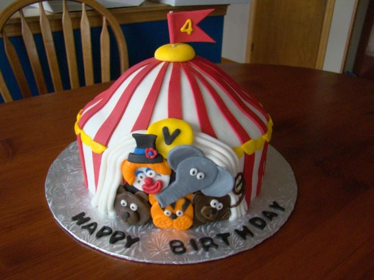 Big Top Circus Cake Cake Ideas Pinterest Tops