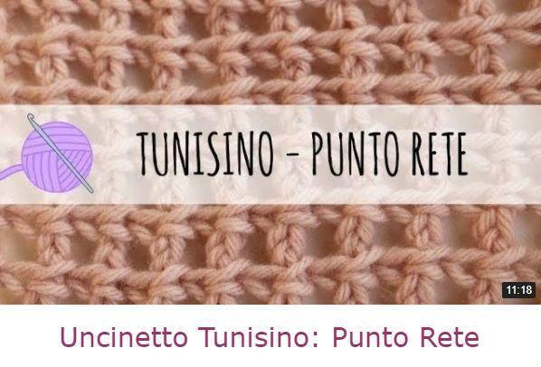 Uncinetto Tunisino Come Fare Punto Rete Crochet Tunisian
