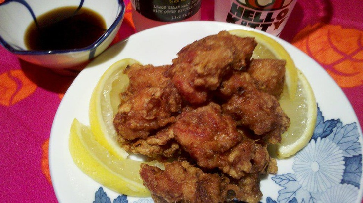"chicken karaage (commonly referred to as ""JFC"" japanese fried chick..."