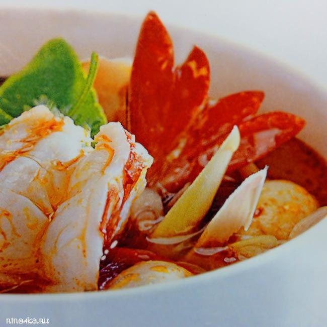 Тайский суп том ям, рецепты тайских блюд, блюда тайской кухни, тайские рецепты