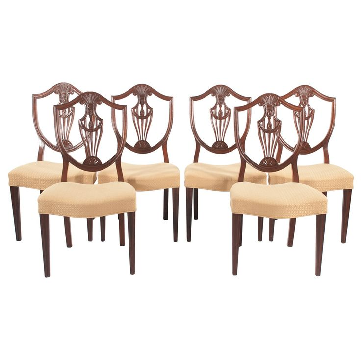 $2000 Set Of 6 Sheraton Style Dining Chairs | From A Unique Collection Of  Antique