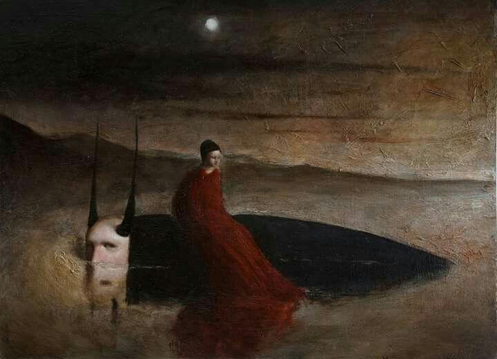 Obra surrealista del pintor italiano Alessandro Sicioldr.