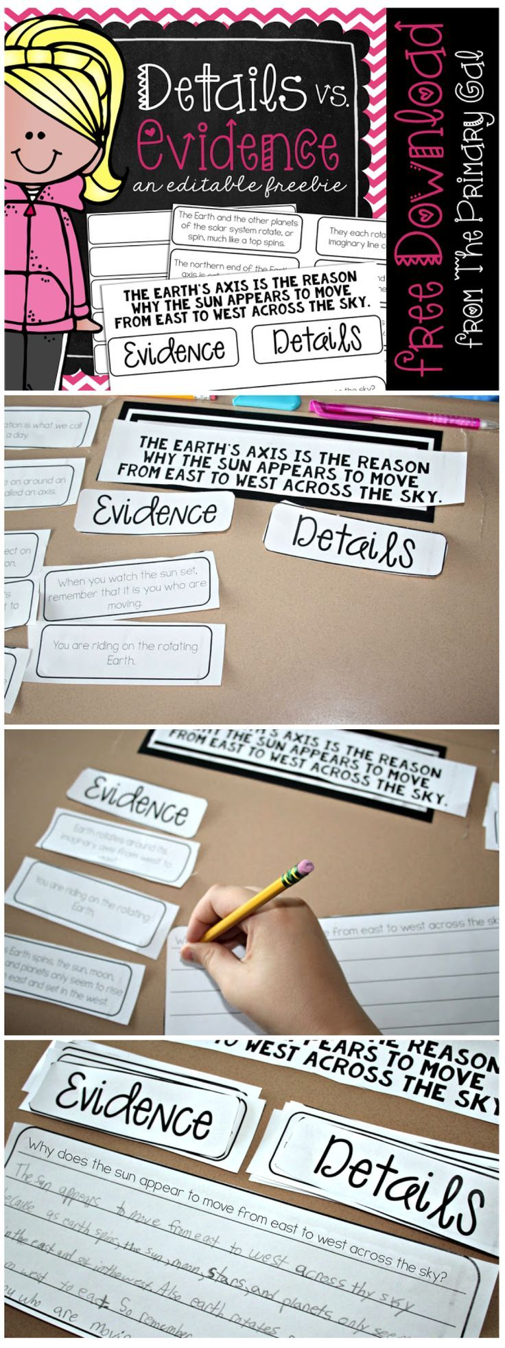 Supporting an inference or main idea with details from the text can be a difficult skill.  This FREEBIE is the perfect way to help your students determine what actually supports the inference made!