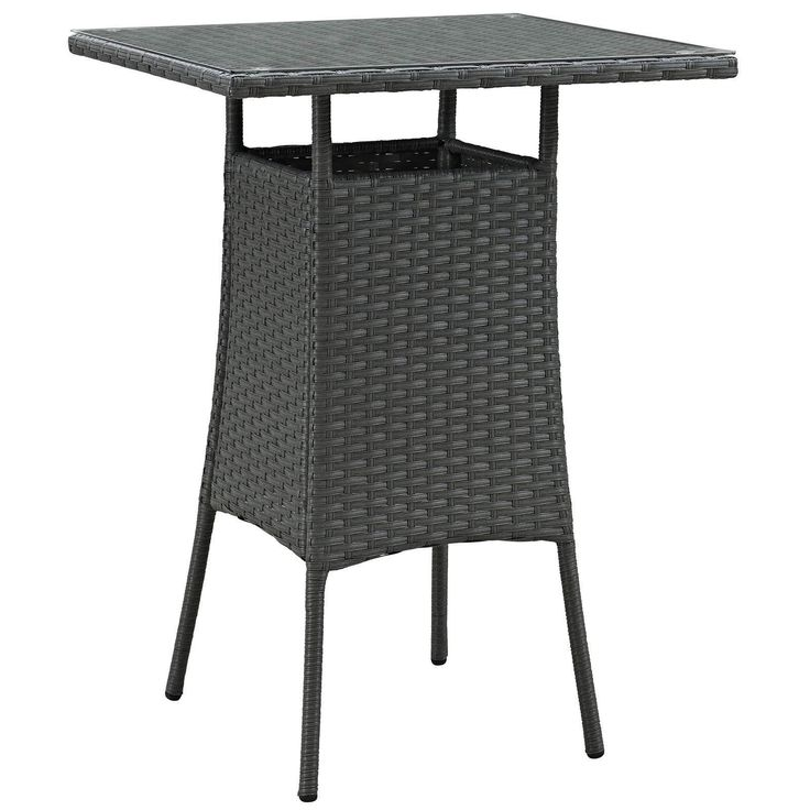 Small Outdoor Setting Part - 44: Sojourn Small Outdoor Patio Bar Table EEI-1958