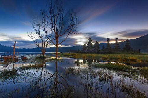 Tamblingan in Blue Dawn [Explore] by Pandu Adnyana, via Flickr