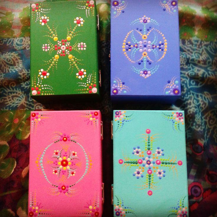 Lazos eternos serie de cajas de madera pintadas a mano - Cajas de madera pintadas a mano ...