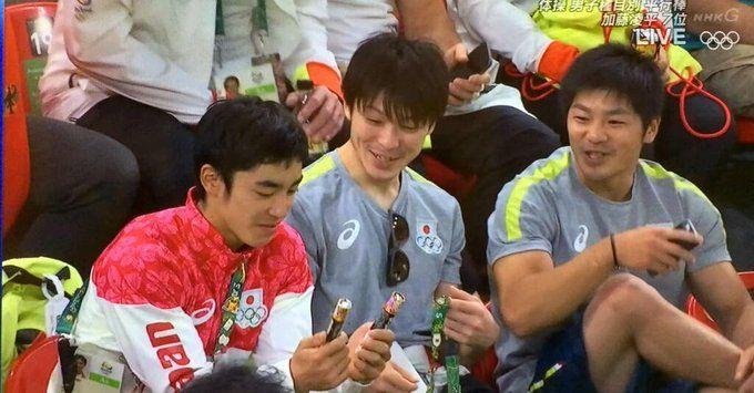 体操男子チームがマーブルチョコ食べまくりで微笑ましいと話題に #リオ五輪 - Togetterまとめ