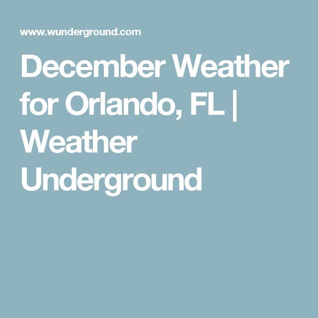 December Weather for Orlando, FL   Weather Underground