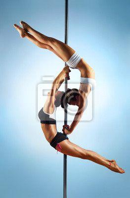 """Canvas eller Poster """"kvinnor, sexig, Pol - pole dance kvinnor"""" ✓ Enkelt montage ✓ 365 dagars öppet köp ✓ Se andra mönster från kollektionen!"""