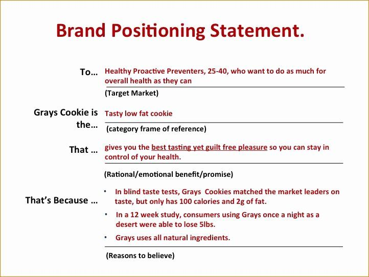 Personal Position Statement Example Best Of Pin By Vince Ferraro Grow Y Brand Positioning First Generation Examples